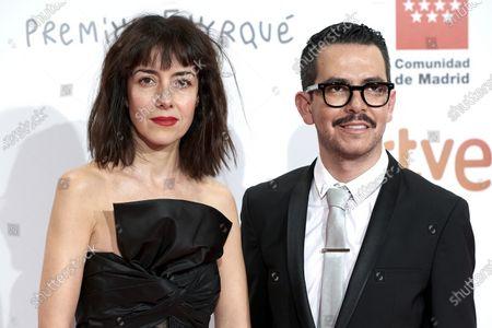 Cecilia Suarez, Manolo Caro attends the 'Jose Maria Forque' 2020 awards Red Carpet photocall at Ifema in Madrid, Spain on Jan 11, 2020