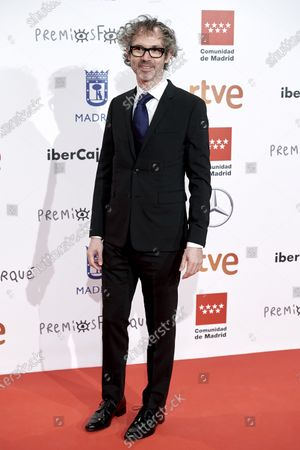 James Rhodes attends the 'Jose Maria Forque' 2020 awards Red Carpet photocall at Ifema in Madrid, Spain on Jan 11, 2020