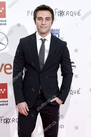 Pol Monen attends the 'Jose Maria Forque' 2020 awards Red Carpet photocall at Ifema in Madrid, Spain on Jan 11, 2020