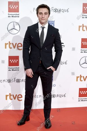 Stock Photo of Pol Monen attends the 'Jose Maria Forque' 2020 awards Red Carpet photocall at Ifema in Madrid, Spain on Jan 11, 2020