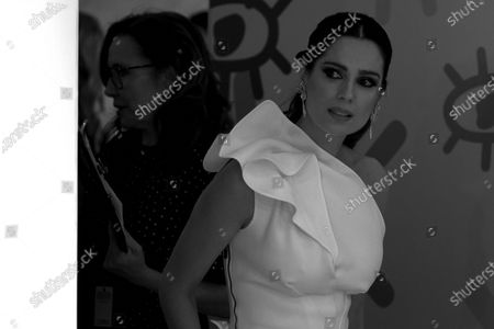 (EDITOR'S NOTE: Image was converted to black and white) Mar Saura attends the 'Jose Maria Forque' 2020 awards Red Carpet photocall at Ifema in Madrid, Spain on Jan 11, 2020