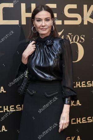 Stock Photo of Juncal Rivero attends the 50th Cheska Anniversary photocall at Santa Barbara Palace in Madrid, Spain on Mar 5, 2020