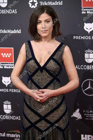 Iria Del Rio attends the 'FEROZ' awards 2020 Red Carpet photocall at Teatro Auditorio Ciudad de Alcobendas in Madrid, Spain on Jan 16, 2020