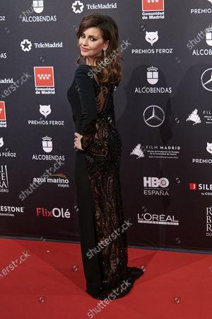 Monica Cruz attends the 'FEROZ' awards 2020 Red Carpet photocall at Teatro Auditorio Ciudad de Alcobendas in Madrid, Spain on Jan 16, 2020