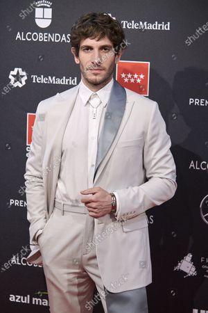 Quim Gutierrez attends the 'FEROZ' awards 2020 Red Carpet photocall at Teatro Auditorio Ciudad de Alcobendas in Madrid, Spain on Jan 16, 2020