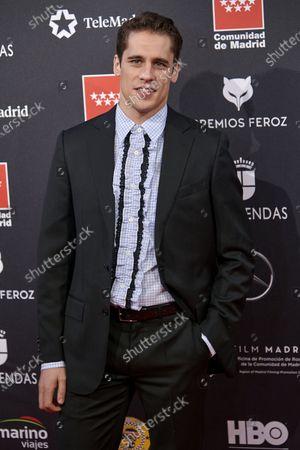 Martin Rivas attends the 'FEROZ' awards 2020 Red Carpet photocall at Teatro Auditorio Ciudad de Alcobendas in Madrid, Spain on Jan 16, 2020