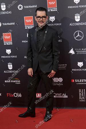 Manolo Caro attends the 'FEROZ' awards 2020 Red Carpet photocall at Teatro Auditorio Ciudad de Alcobendas in Madrid, Spain on Jan 16, 2020