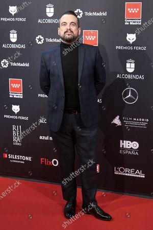 Nacho Vigalondo attends the 'FEROZ' awards 2020 Red Carpet photocall at Teatro Auditorio Ciudad de Alcobendas in Madrid, Spain on Jan 16, 2020