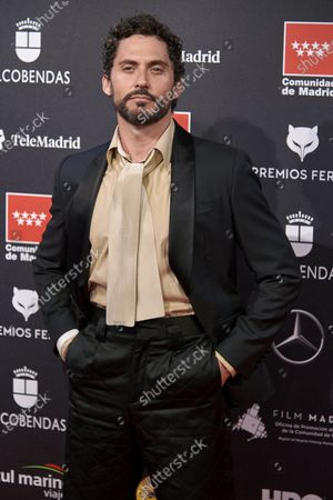 Paco Leon attends the 'FEROZ' awards 2020 Red Carpet photocall at Teatro Auditorio Ciudad de Alcobendas in Madrid, Spain on Jan 16, 2020