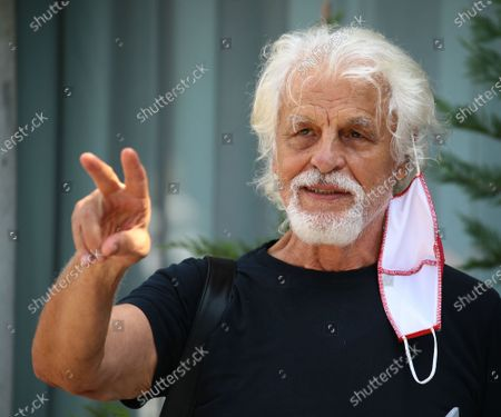 Michele Placido is seen arriving at the Excelsior during the 77th Venice Film Festival on September 10, 2020 in Venice, Italy.