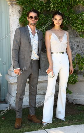 Stock Image of Maximilian Befort and Luise Befort  is seen arriving at the Excelsior during the 77th Venice Film Festival on September 08, 2020 in Venice, Italy.