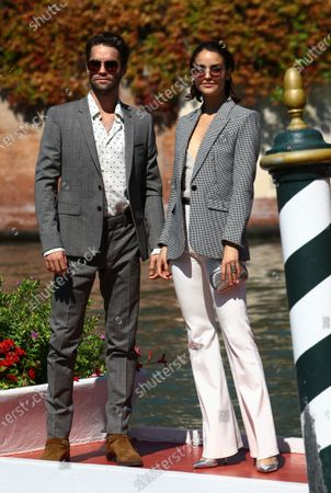 Maximilian Befort and Luise Befort are seen arriving at the Excelsior during the 77th Venice Film Festival on September 08, 2020 in Venice, Italy.