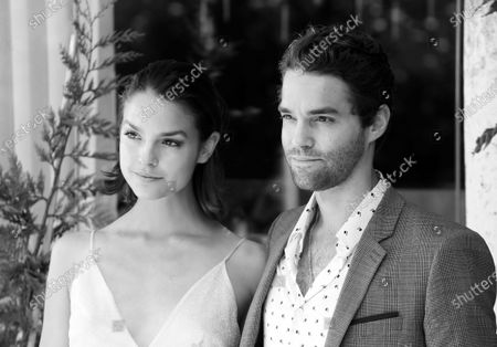 (EDITOR'S NOTE: Image was converted to black and white)  Maximilian Befort and Luise Befort  is seen arriving at the Excelsior during the 77th Venice Film Festival on September 08, 2020 in Venice, Italy.