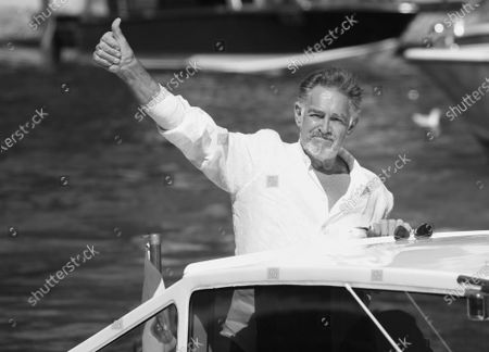 Stock Picture of (EDITOR'S NOTE: Image was converted to black and white) Fabio Testi is seen arriving at the Excelsior during the 77th Venice Film Festival on September 08, 2020 in Venice, Italy.