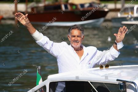 Fabio Testi is seen arriving at the Excelsior during the 77th Venice Film Festival on September 08, 2020 in Venice, Italy.