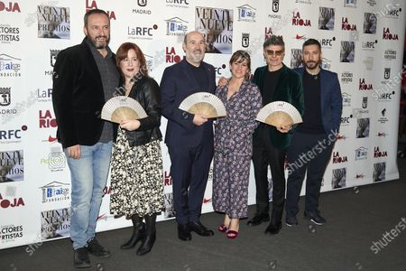 Javier Camara, Nacho Guerreros attends the 29th 'Union de Actores' Awards photocall at Circo Price in Madrid, Spain on Mar 9, 2020