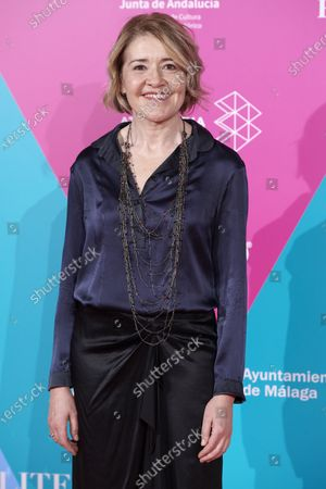 Maria Pujalte attends the 23rd Malaga Film Festival Cocktail Party photocall at Circulo de las Artes in Madrid, Spain on Mar 3, 2020