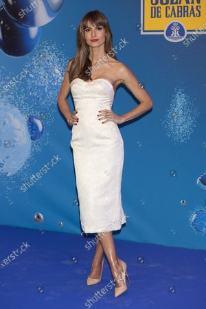 Ariadne Artiles attends the 'Solan de Cabras con Gas' photocall at Neptuno Palace in Madrid, Spain  on Feb 20, 2020
