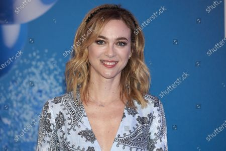 Marta Hazas attends the 'Solan de Cabras con Gas' photocall at Neptuno Palace in Madrid, Spain  on Feb 20, 2020