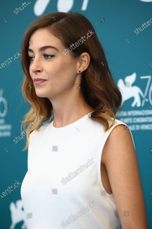 """Victoria Guerra attends """"A Herdade"""" (The Domain) photocall during the 76th Venice Film Festival on September 05, 2019 in Venice, Italy."""