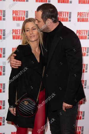 Stock Photo of Joanne Mas and Danny Dyer attend the press night performance of ''Pretty Woman'' at the Piccadilly Theatre on March 2, 2020 in London, England.