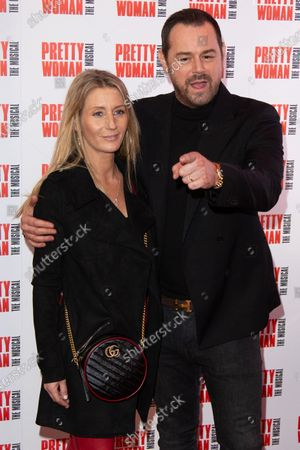 Joanne Mas and Danny Dyer attend the press night performance of ''Pretty Woman'' at the Piccadilly Theatre on March 2, 2020 in London, England.