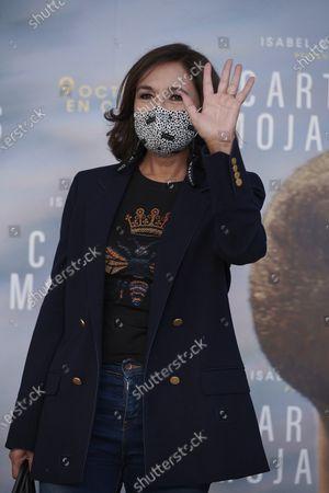 Isabel Gemio attends the 'Cartas Mojadas' Premiere at Gran Principe Pio Theatre in Madrid, Spain, on October 8, 2020.