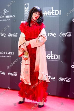 Natalia ferviu pose for the photographers prior to the Odeon Music Awards gala at the Royal Theater in Madrid, Spain, 20 January 2020. The Odeon awards honor the best Spanish albums and singers of the previous year