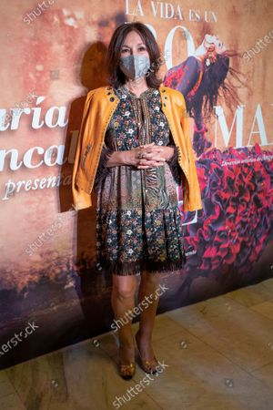 ISABEL GEMIO attends the photocall of the show by the dancer María Juncal 'La vida es un romance' at the Cofidis Alcázar theater in Madrid, Spain, on May 28, 2021.