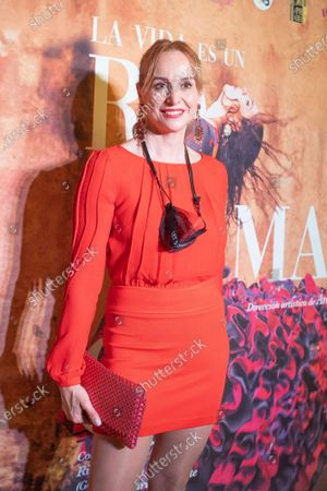 Stock Image of MAR REGUERAS attends the photocall of the show by the dancer María Juncal 'La vida es un romance' at the Cofidis Alcázar theater in Madrid, Spain, on May 28, 2021.