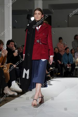 A model walks the runway 'Steps AW 19/20' during the Moises Nieto fashion show at the  Mercedes Benz Fashion Week Autumn/Winter 2019-2020 on January 24, 2019 in Madrid, Spain