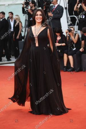 Nadine Labaki walks the red carpet ahead of the 'J'Accuse' (An Officer And A Spy) screening during the 76th Venice Film Festival at Sala Grande on August 30, 2019 in Venice, Italy.