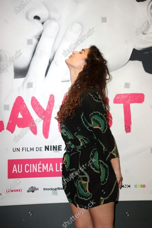 Inas Chanti poses during the preview of the film, Playlist, at the UGC Cine Cite les Halles