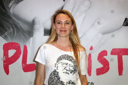 Laetitia Dosch poses during the preview of the film, Playlist, at UGC Cine Cite les Halles