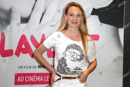 Laetitia Dosch poses during the preview of the film, Playlist, at the UGC Cine Cite les Halles