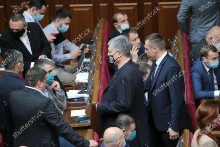 European Solidarity MP Petro Poroshenko attends a regular plenary sitting of the Ukrainian parliament, Kyiv, capital of Ukraine.
