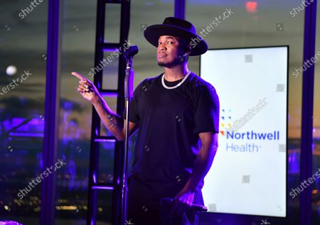 Stock Photo of Ne-Yo performs at the Northwell Health 'Side By Side' Memorial Day Concert Honoring Military and Health Care Workers at the World Trade Observatory in New York City.
