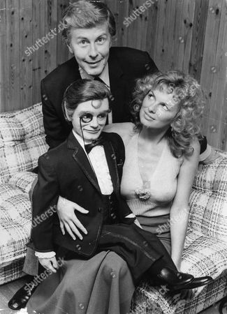 Julie Ege Actress With Ventriloquist Ray Alan And Lord Charles. Ray Alan Died 24/5/2010