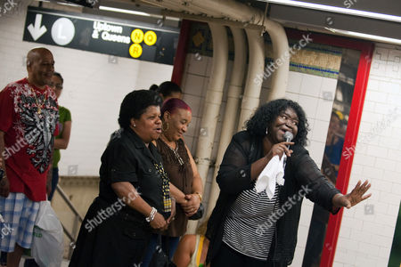 Editorial photo of Alice Tan Ridley 'busking' at a subway station, New York, America - 21 Jun 2010