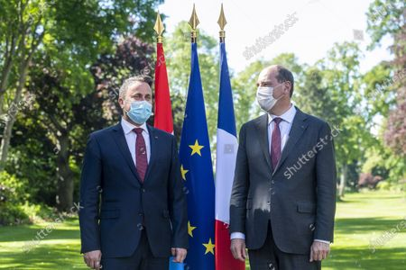 Prime Minister Jean Castex receives Xavier Bettel, Prime Minister of the Grand Duche of Luxembourg, at the Hotel de Matignon in Paris for an interview