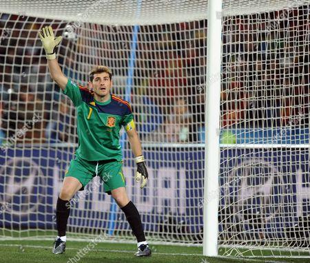Iker Casillas of Spain
