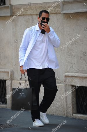 Editorial photo of Marco Borriello out and about, Milan, Italy - 01 Jun 2021