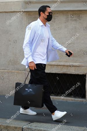 Editorial image of Marco Borriello out and about, Milan, Italy - 01 Jun 2021