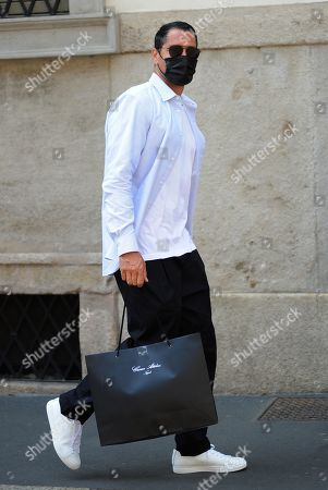 Stock Photo of Marco Borriello shopping in the center of town