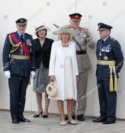 Camilla, Duchess of Cornwall with senior members of the armed forces including Sir Jock Stirrup Chief of Defence Staff