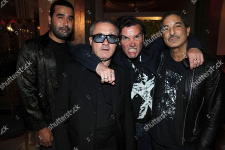 Harif Guzman, Damien Hirst, Anthony Genm and Noor Khan