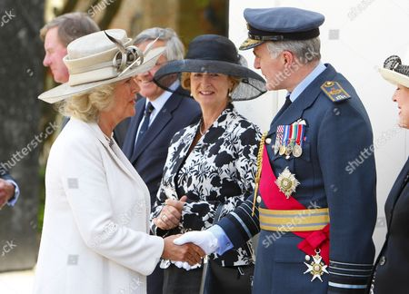 Camilla, Duchess of Cornwall meets Sir Jock Stirrup, Chief of the Defence Staff
