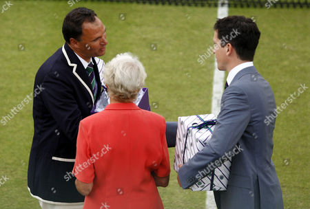 After the historic match between Nicolas Mahut (FRA) and John Isner (USA), chair referee Mohamed Lahyani (SWE) will be honored by  Ann Haydon-Jones and Tim Henman