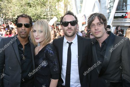 Stock Photo of Josh Winstead, Emily Haines, James Shaw and Joules Scott-Key from the band Metric