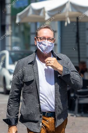 The actor Kevin Spacey visits Turin, Italy, on June 1, 2021 where he is among the protagonists of the Italian film ''The man who drew God'', his first film role after the period of oblivion that began in 2017 following allegations of sexual harassment.